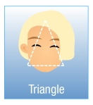 Triangle (Base Down) Face