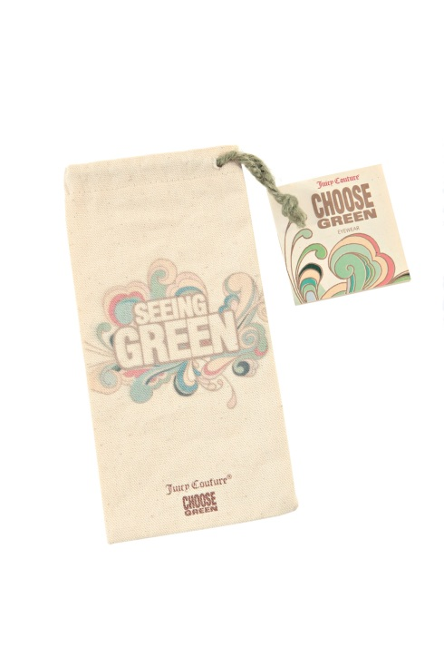Juicy Couture Choose Green canvas pouch