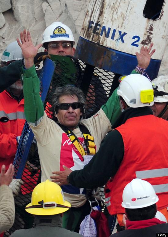 Chilean miner rescued wearing Oakley Radar frames